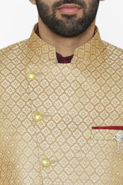 Banarasi Rayon Cotton Gold Blazer