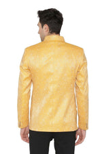 Banarsi Rayon Cotton Yellow Bandhgala