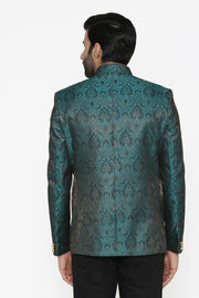 Banarasi Rayon Cotton Blue Blazer