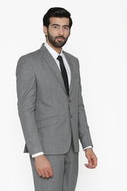 Polyester Cotton Grey Blazer