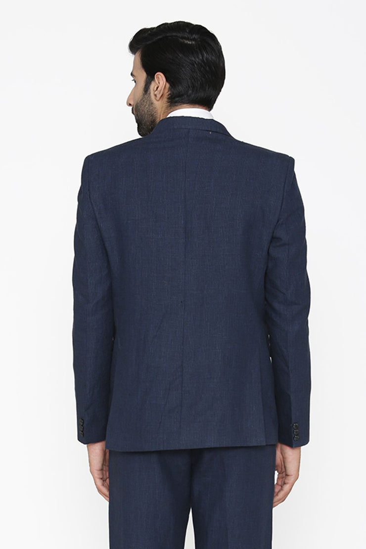 100% Pure Linen by Linen Club Blue Blazer