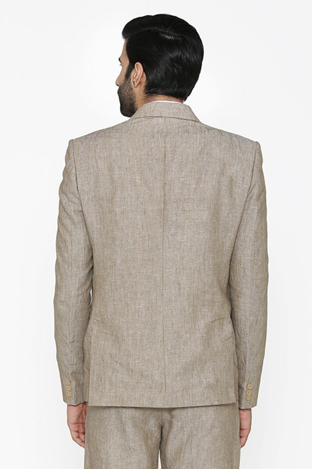 100% Pure Linen by Linen Club White Blazer