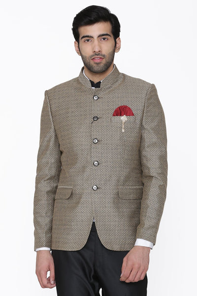 Pashima and Wool Silver Blazer