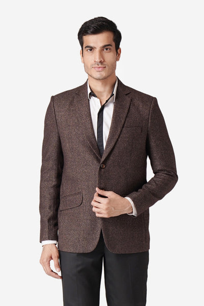 Tweed Dark Brown Blazer