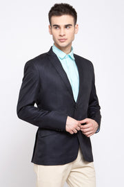 Wintage Men's Poly Blend Formal and Evening Blazer Coat Jacket : Dark Blue