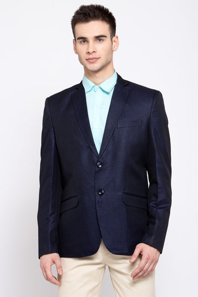 Wintage Men's Poly Blend Formal and Evening Blazer Coat Jacket : Navy Blue