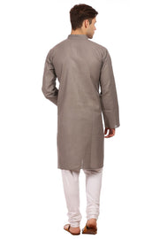 Cotton Silk Grey Kurta Pyjama