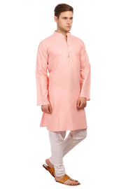 Cotton Silk Pink Kurta Pyjama