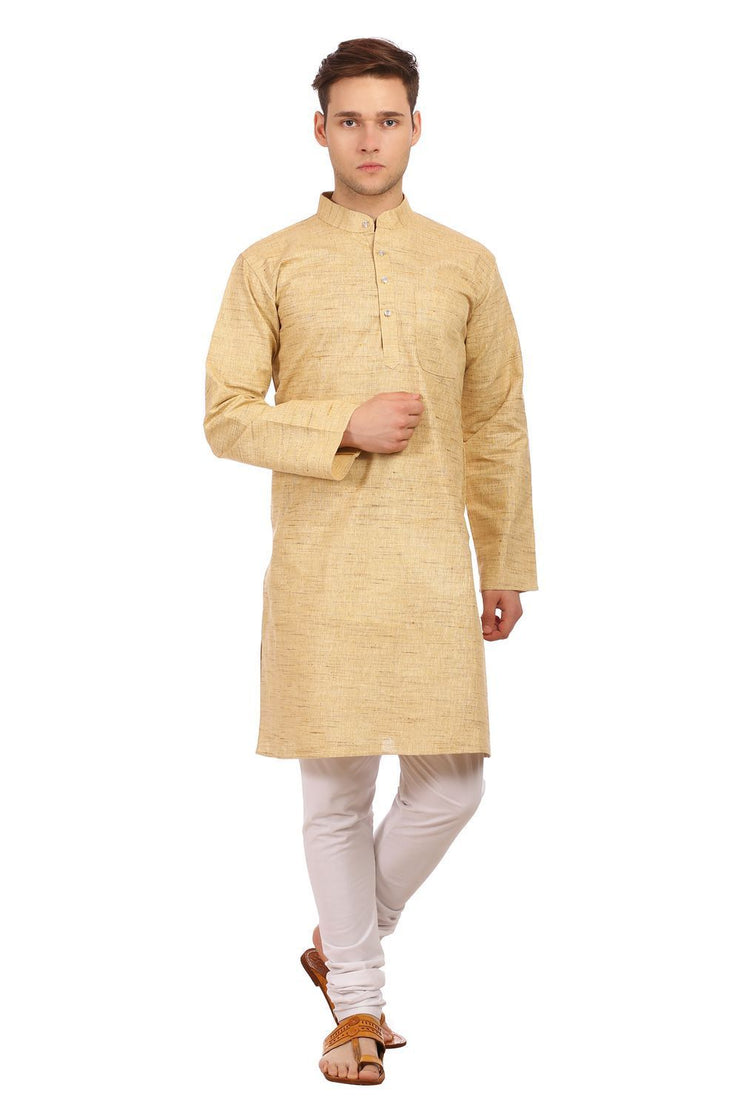 Khadi Cotton Green Kurta Pyjama