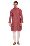 Handloom Poly-Cotton Purple Kurta Pyjama