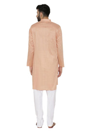 100% Cotton Orange Kurta Pyjama