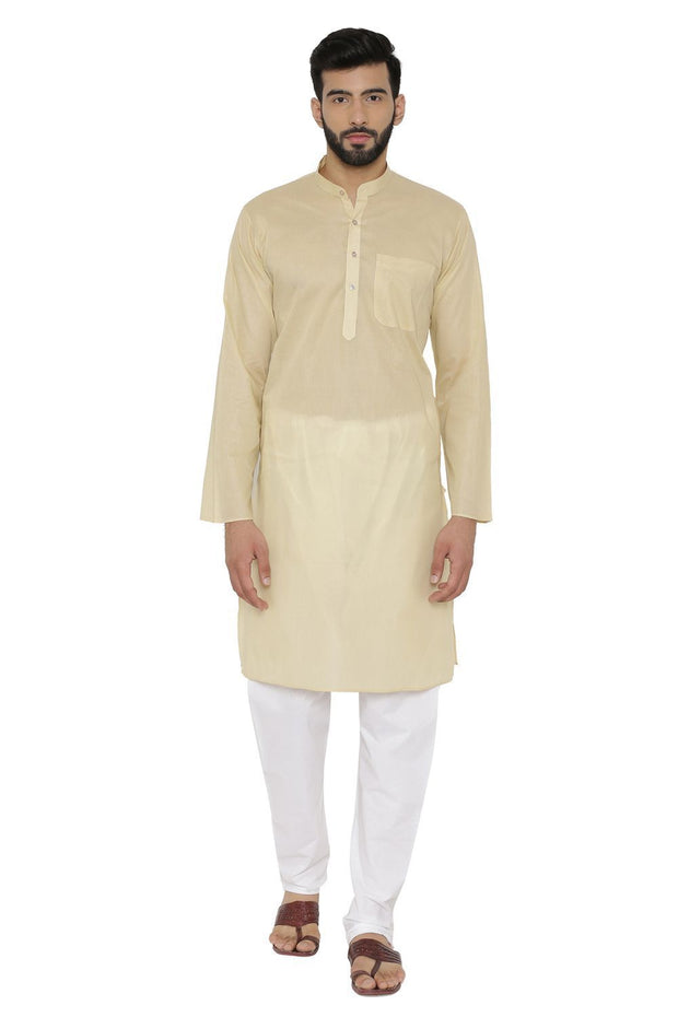 100% Cotton Gold Kurta Pyjama