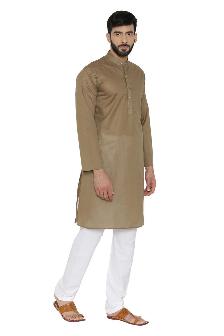 100% Cotton Brown Kurta Pyjama