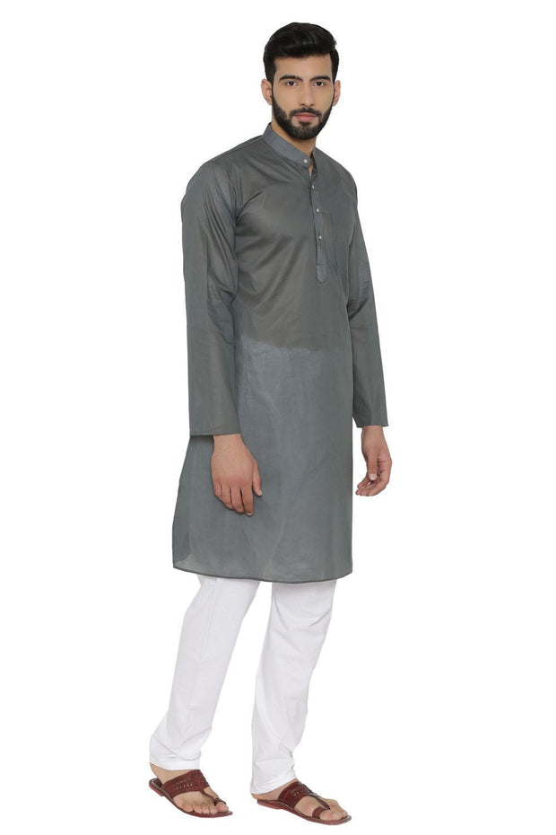 100% Cotton Grey Kurta Pyjama