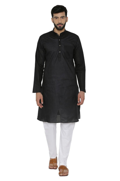 100% Cotton Black Kurta Pyjama