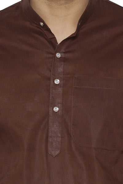 100% Cotton Kurta Pajama - Brown
