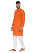 100% Cotton Kurta Pajama - Orange
