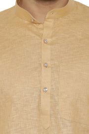 100% Cotton Beige Kurta Pyjama