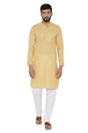 100% Cotton Yellow Kurta Pyjama