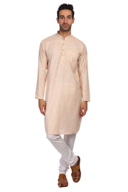 Cotton Orange Kurta Pyjama