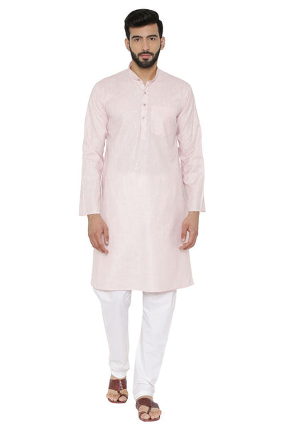Cotton Rich Pink Kurta Pyjama
