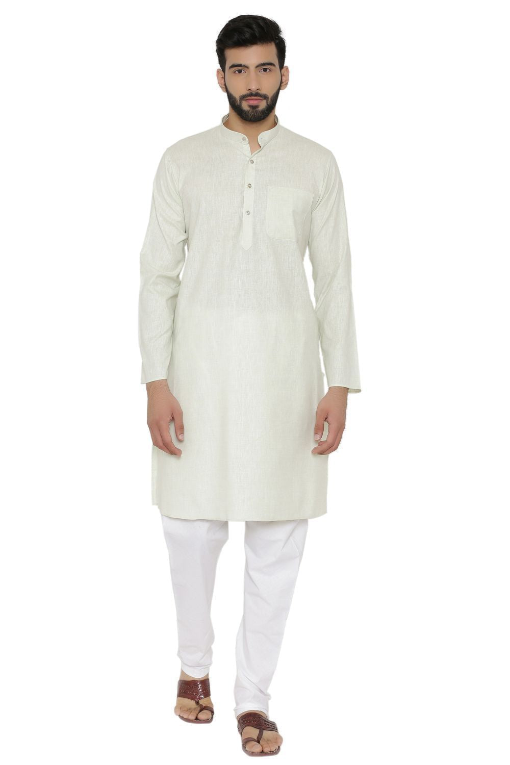 Cotton Rich Green Kurta Pyjama