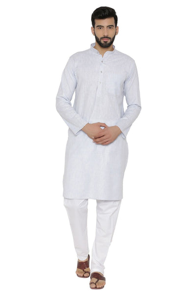 Cotton Rich Blue Kurta Pyjama