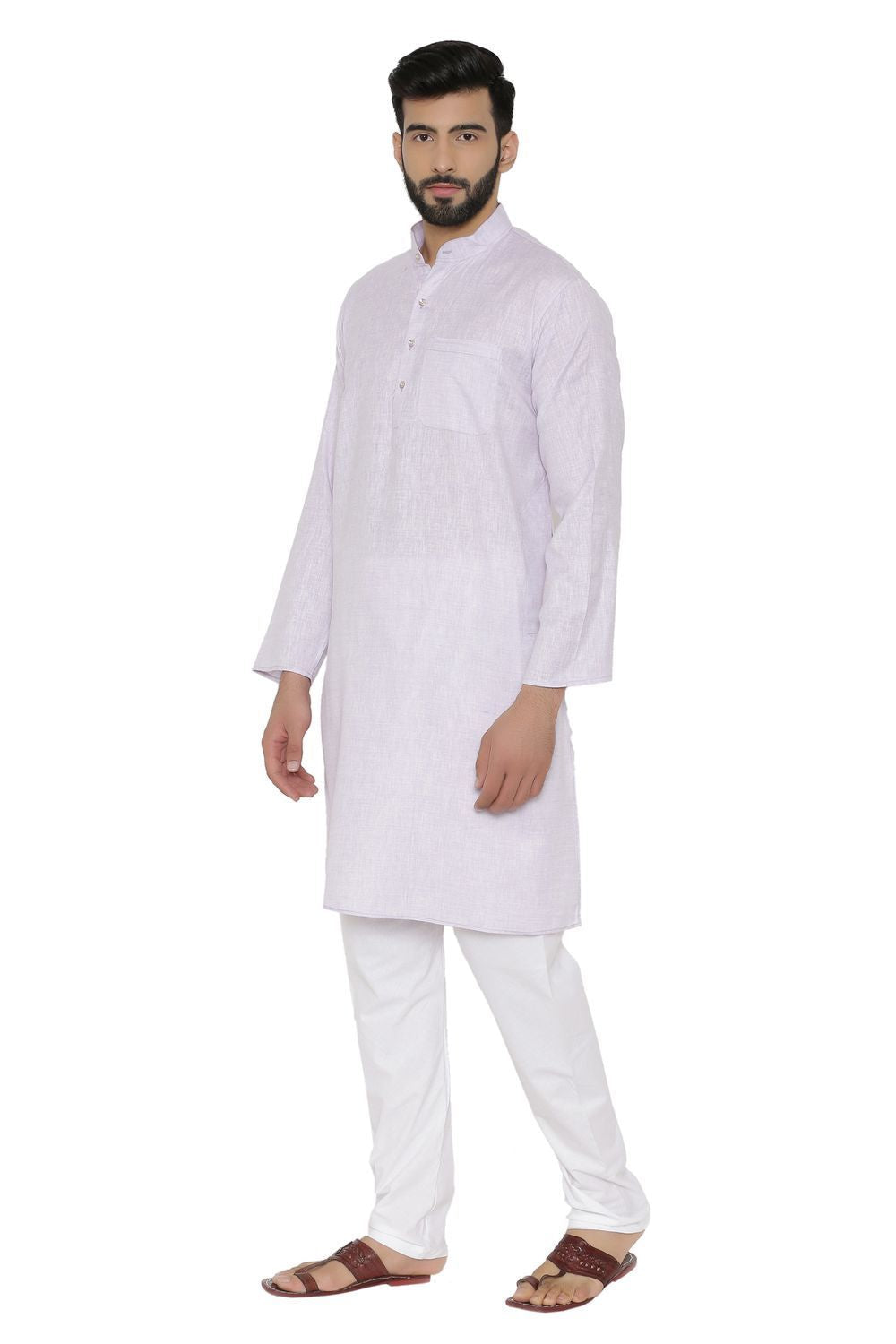 Cotton Rich Kurta Pajama - Purple