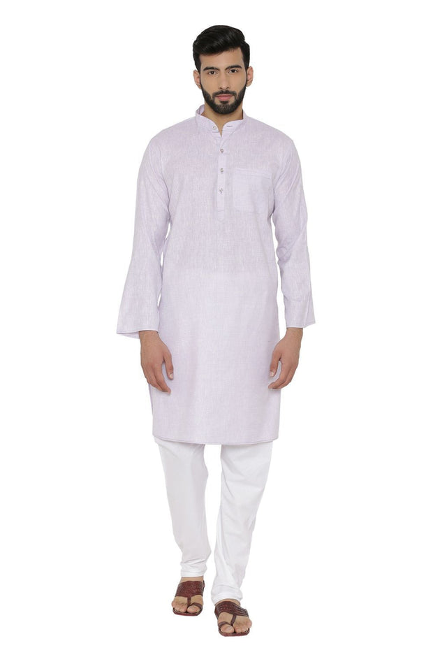Cotton Rich Purple Kurta Pyjama