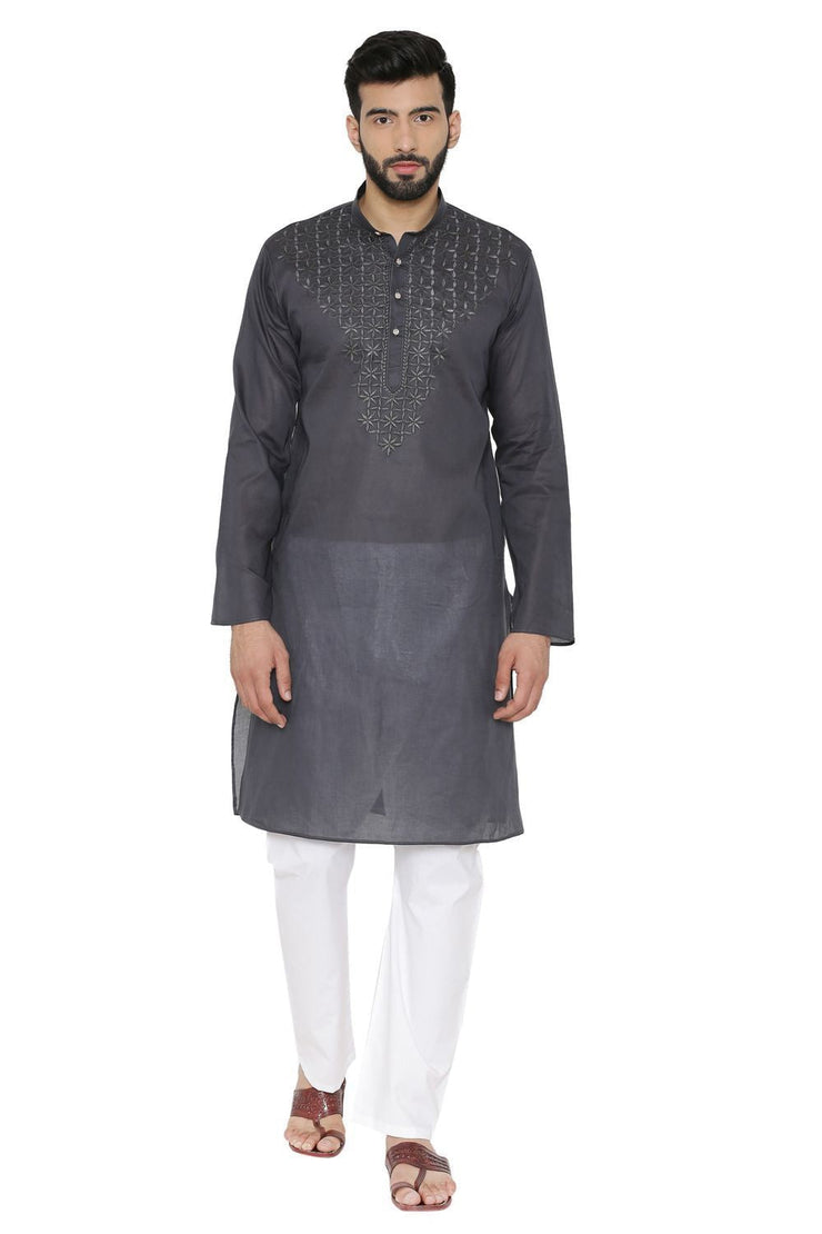 100% Cotton Blue Kurta Pyjama