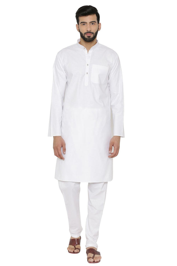 100% Cotton Khadi White Kurta Pyjama