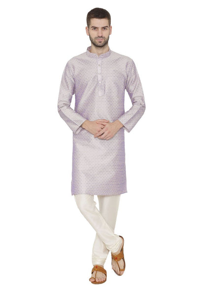 Banarasi Art Silk Purple Kurta Pajama