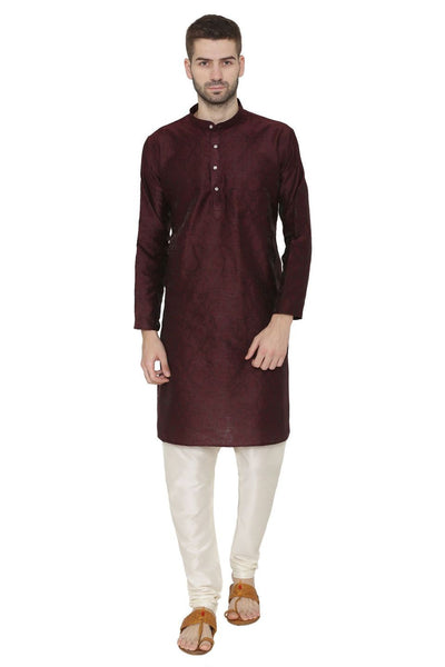 Banarasi Art Silk Brown Kurta Pajama