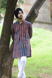 Jaipur 100% Cotton Multicolored Long Kurta Pajama