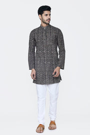 Jaipur 100% Cotton Black Long Kurta Pajama