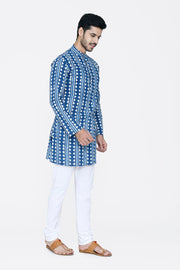 Jaipur 100% Cotton Blue Long Kurta Pajama