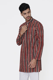 Jaipur 100% Cotton Red Long Kurta Pajama