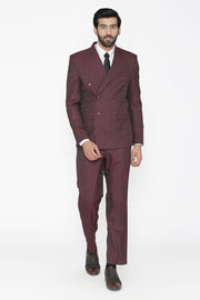 Polyester Cotton Red Suit