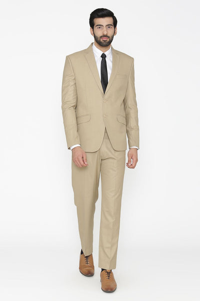 Polyester Cotton White Suit