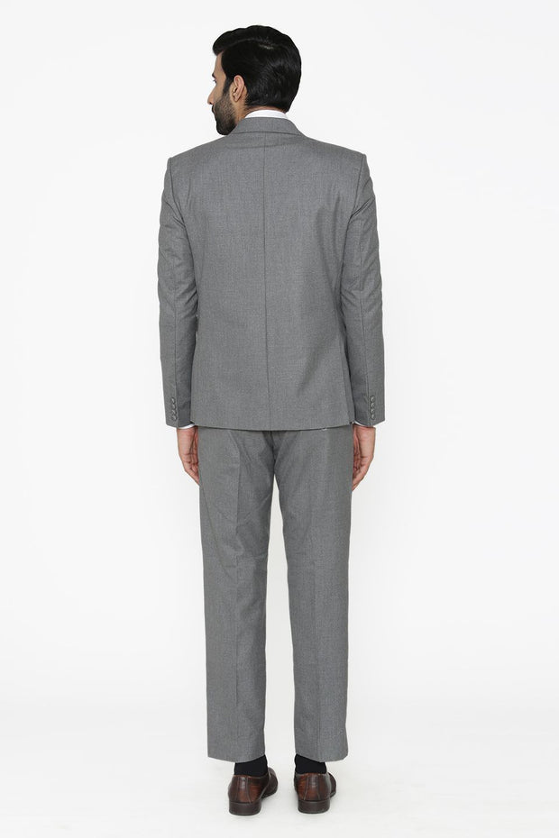 Polyester Cotton Grey Suit