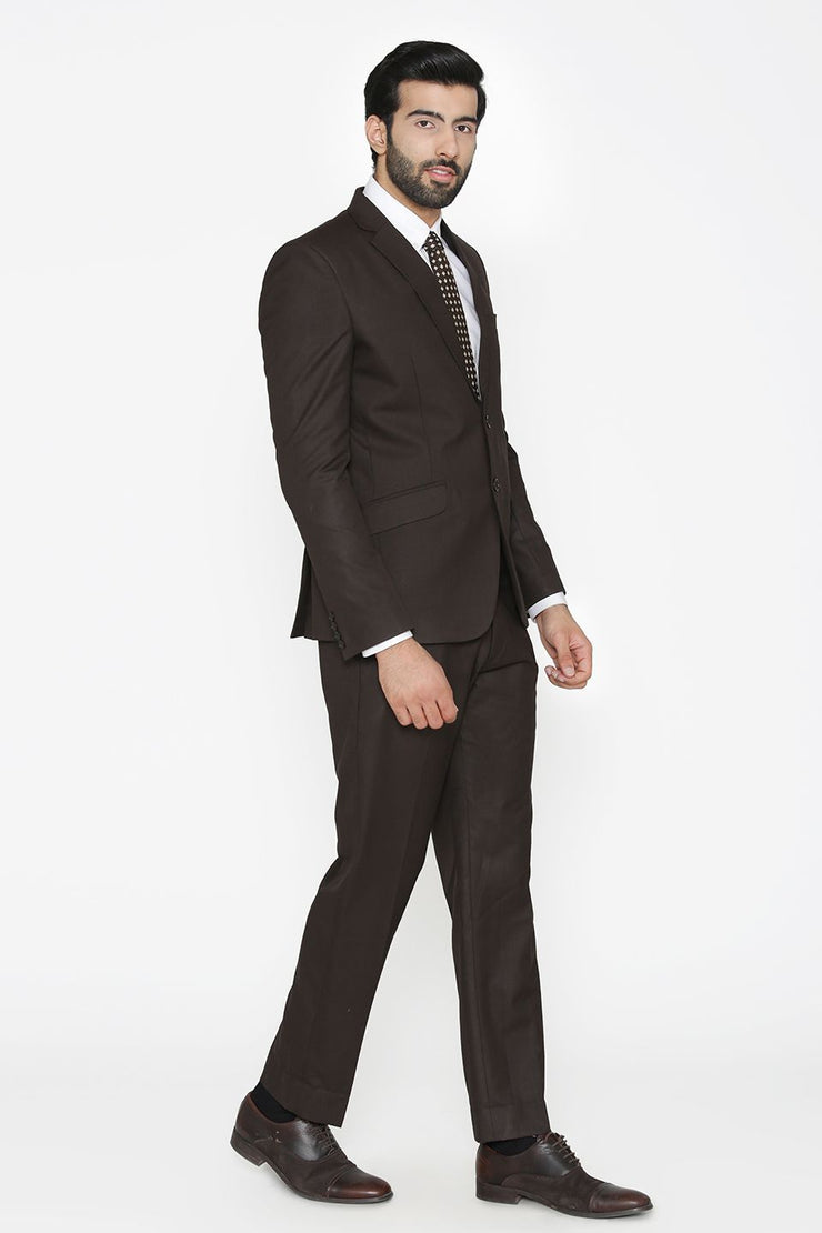 Polyester Cotton Black Suit