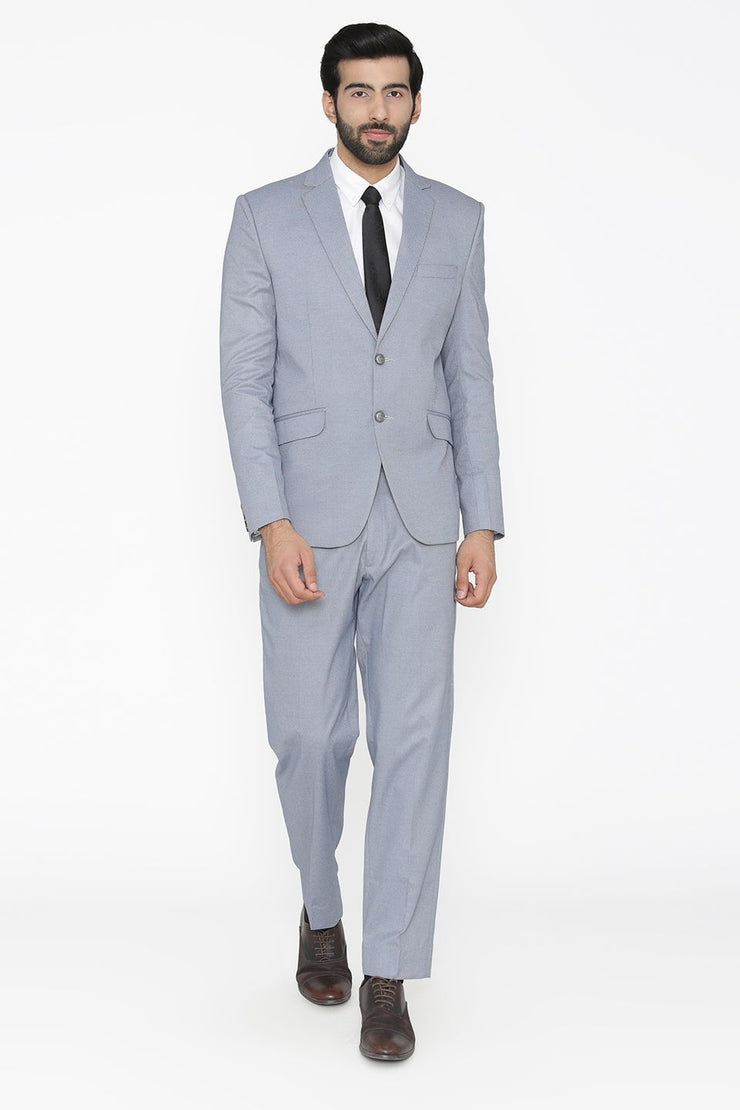 Poly Cotton Lycra  Blue Suit
