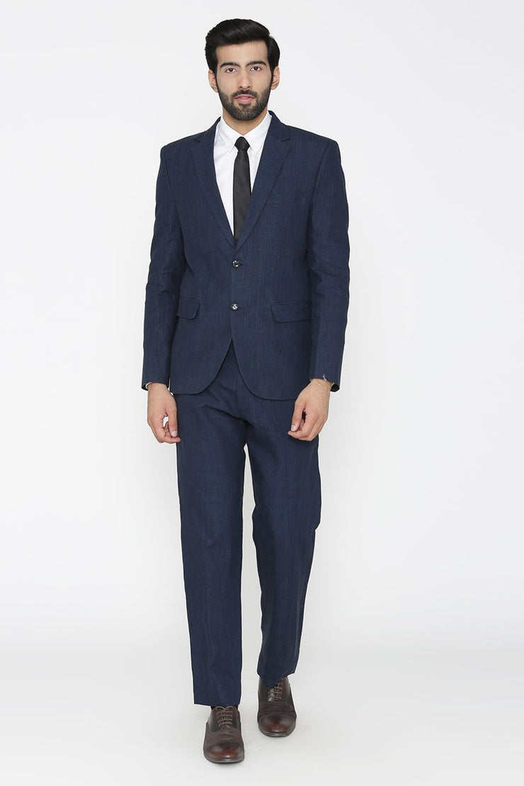 100% Pure Linen by Linen Club Blue Suit