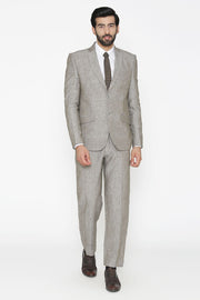 100% Pure Linen by Linen Club Silver Suit