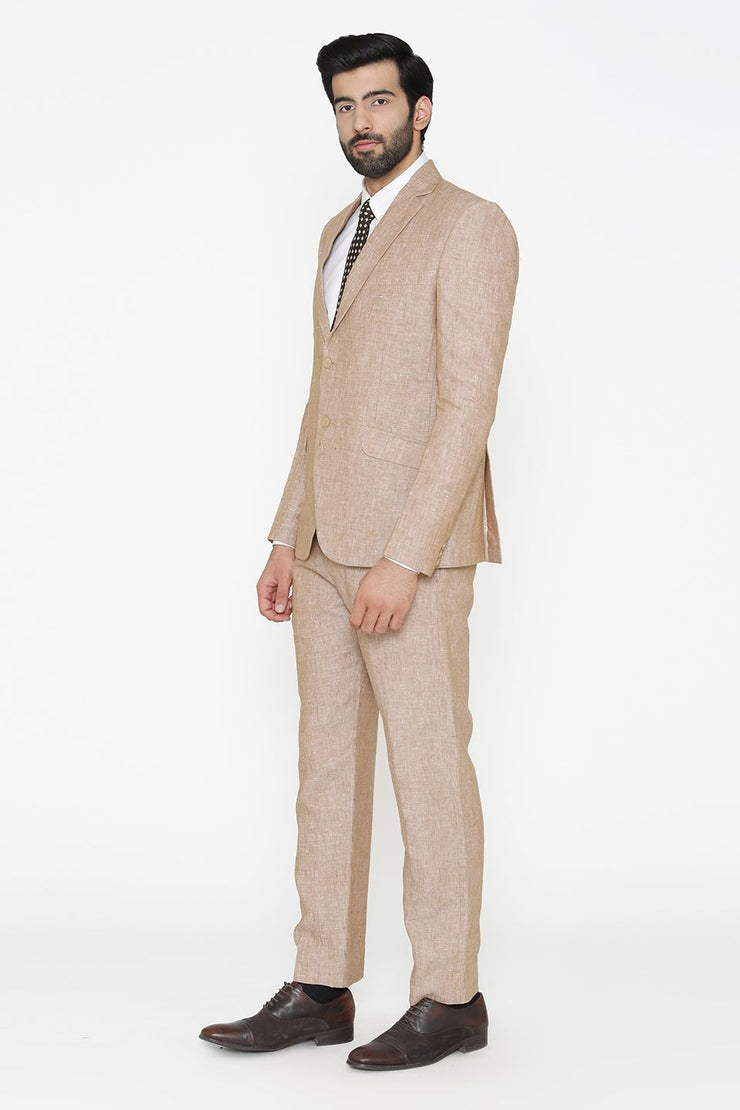 100% Pure Linen by Linen Club  Pink Suit