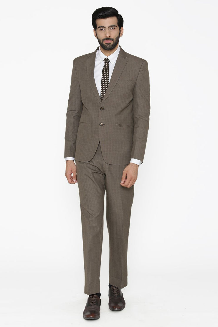 Poly Cotton Grey Suit