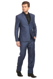 Poly Viscose Blue Suit