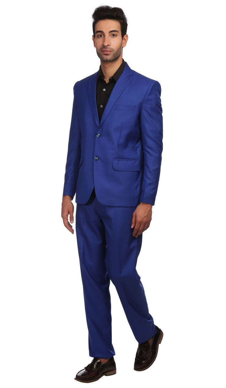Polyester Blend Blue Suit