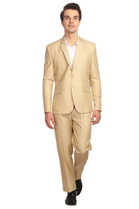 Poly Viscose Beige Suit