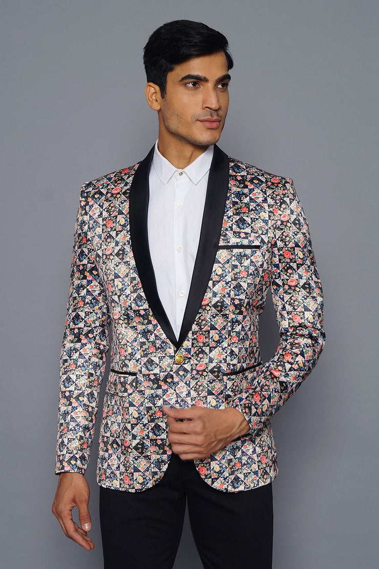Polyester Fabric MulticolouRed Tuxedo